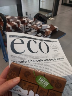 Every morning starts with gifts of chocolate and the eco